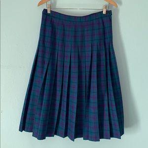 Pendleton Wool Plaid Pleated Skirt 12/14